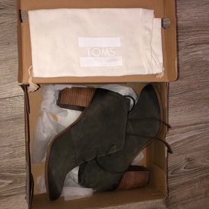Toms Shoes - TOMS Olive Green Booties